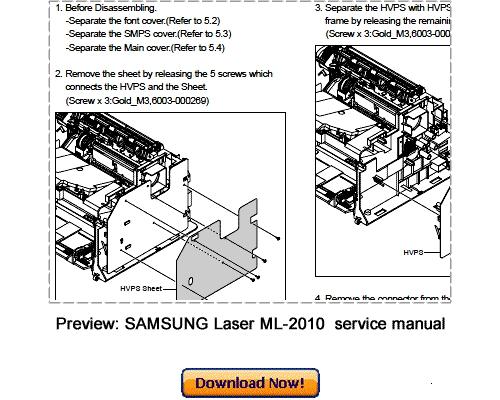 SAMSUNG ML-2010 ML-2015 Service Repair Manual Download - Download M...