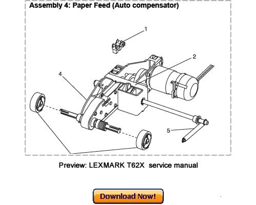lexmark t620 t620n t622 t622n service repair manual download