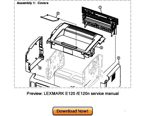 lexmark e120 e120n service repair manual download download manua rh tradebit com lexmark e120 user manual lexmark e120 manual español
