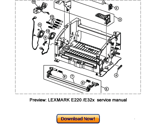 Lexmark e220 e321 e322 e323 service and repair manual download.
