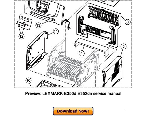 Lexmark E350d  E352dn Service Repair Manual Download