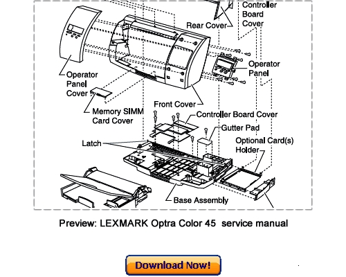 Pay for LEXMARK Optra Color 45 Service Repair Manual Download