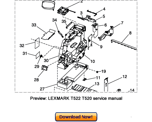 lexmark t522 t522n t520 t520n service repair manual download