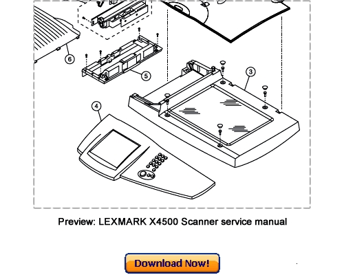 Pay for LEXMARK X4500 Scanner Service Repair Manual Download