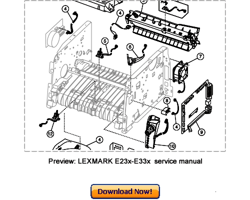 lexmark e230 e232 e330 e330n e234 e234n service repair manual download