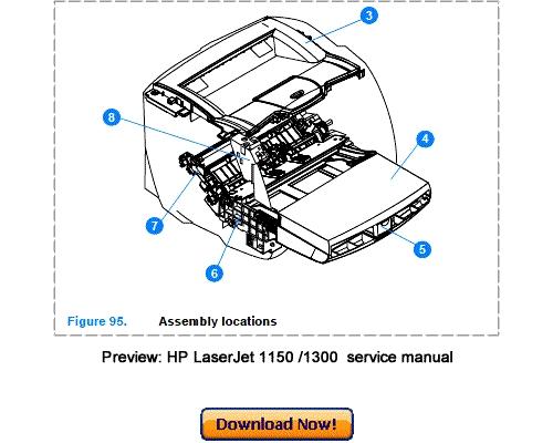 hp laserjet 1150 1300 1300n service repair manual download downlo rh tradebit com HP Printer Symbols HP Printer Symbols