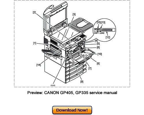 canon gp405  gp400  gp335  gp330 service repair manual