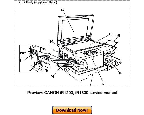 canon ir1210 ir1230 ir1270f ir1310 ir1330 ir1370f service