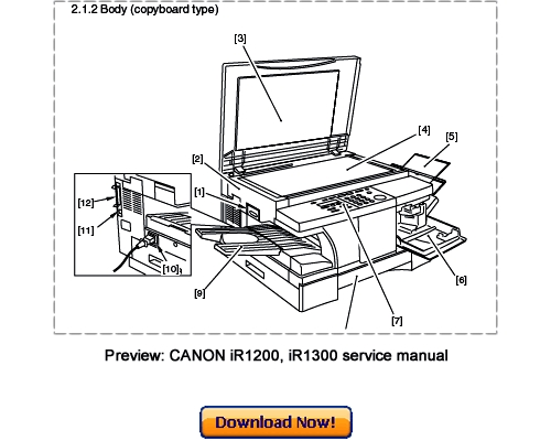Canon Ir1210 Ir1230 Ir1270f Ir1310 Ir1330 Ir1370f Service Repair Manual Download