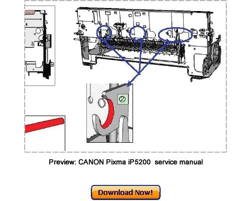 Canon Pixma Ip5200  Pixma Ip5200r Service Repair Manual Download