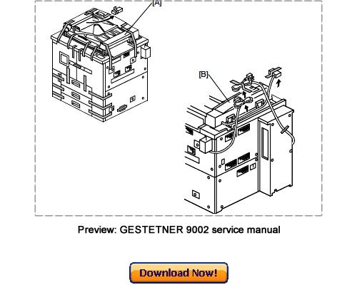 Pay for GESTETNER 9002 10512 Service Repair Manual Download