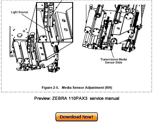 zebra 110pax3 thermal label printer service maintenance manual down rh tradebit com Parts Manual Parts Manual