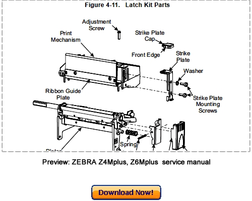 zebra z4mplus z6mplus thermal label printer service maintenance man rh tradebit com zebra printers z4mplus manual Zebra Z4Mplus Software