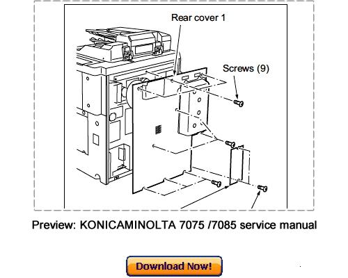 Free KONICA MINOLTA 7075, 7085, Force 75, Force 85 Service Repair Manual Download Download thumbnail