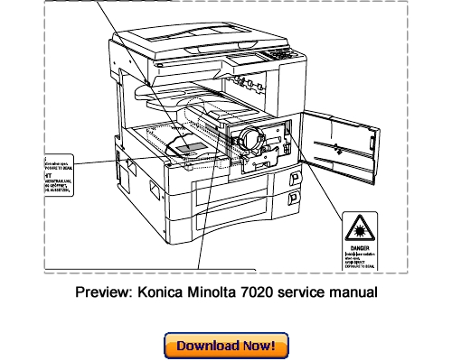 Pay for KONICA MINOLTA 7020 7022 7025 7030 7035 7130 7135 Service Repair Manual Download