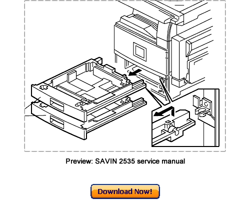 Pay for SAVIN 2535 2545 2535p 2545p Service Repair Manual Download