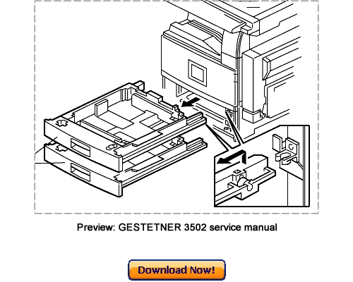 Free GESTETNER 3502 4502 3502P 4502P Service Repair Manual Downlo Download thumbnail