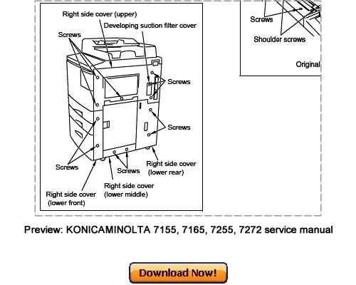 Konica Minolta 7155  7165  7255  7272 Service Repair