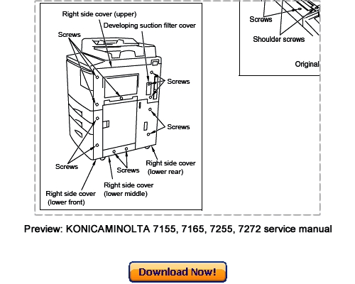 Free KONICA MINOLTA 7155, 7165, 7255, 7272 Service Repair Manual Download Download thumbnail