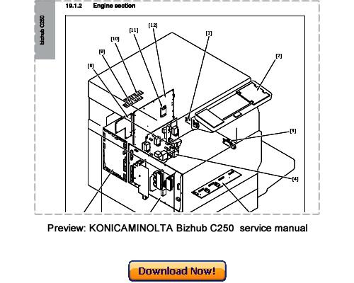 konica minolta bizhub c250 service repair manual download downloa rh tradebit com bizhub 250 parts list A Toner for Bizhub C250