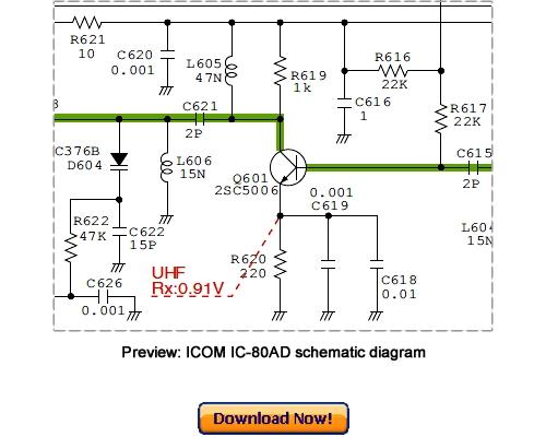 Free ICOM IC-80AD, IC-E80D Service Repair Manual Download Download thumbnail