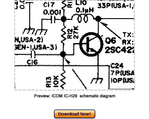 icom ic-h28 service repair manual download