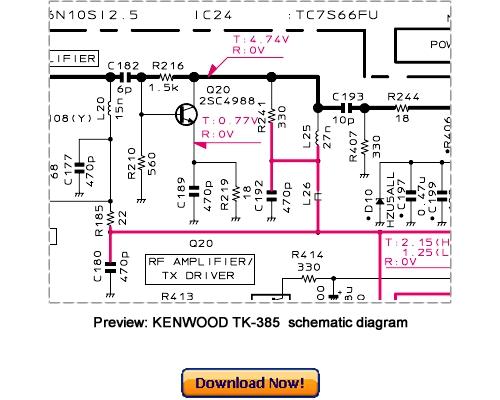 Pay for KENWOOD TK-385 Service Repair Manual Download