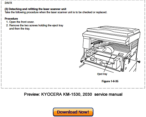 kyocera mita km 1530 km 2030 service repair manual download down rh tradebit com kyocera mita km-1530 user manual kyocera mita 2030 service manual