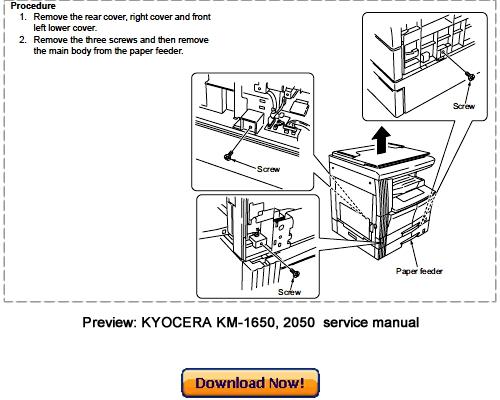 Kyocera km-1650 инструкция