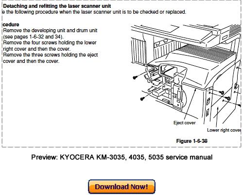 Kyocera km-3035,4035,5035 sm service manual download, schematics.