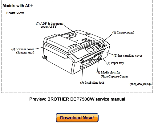 brother dcp 750cw dcp 540cn dcp 330c dcp 130c service repair manual rh tradebit com brother service manual mfc l8850 cdw brother service manuals free