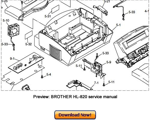 Pay for BROTHER HL-820 HL-1020 HL-1040 HL-1050 Service Repair Manual
