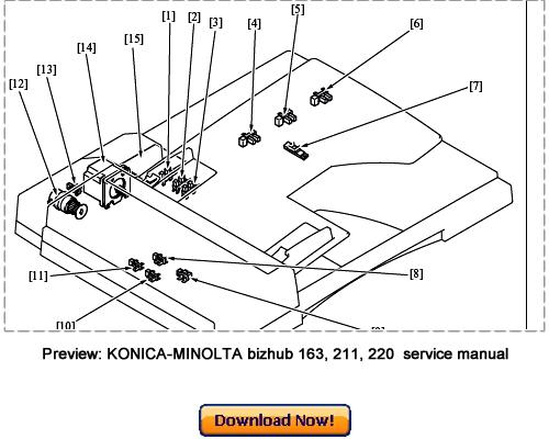 konica minolta bizhub 163 bizhub 211 bizhub 220 service repair ma rh tradebit com bizhub 163 parts guide konica minolta bizhub 163 parts manual