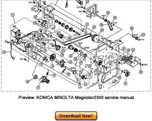 konica minolta magicolor2300 service repair manual and. Black Bedroom Furniture Sets. Home Design Ideas