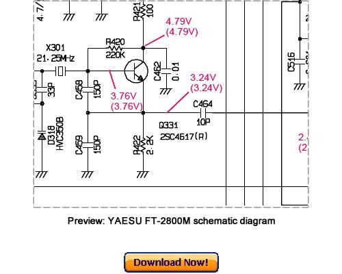 Pay for VERTEX YAESU FT-2800M Service Repair Manual Download