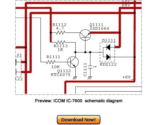 Icom Ic-7600 Service Repair Manual Download