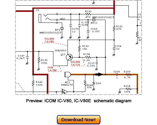 Pay for ICOM IC-V80, IC-V80E Service Repair Manual Download