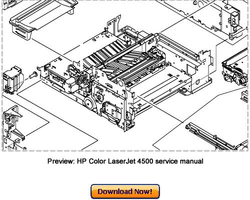 Pay for HP Color LaserJet 4500, 4500N, 4500DN Service Repair Manual download