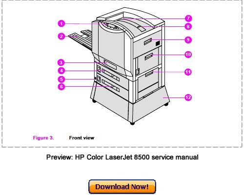 Pay for HP Color LaserJet 8500, 8500N, 8500DN Service Repair Manual Download