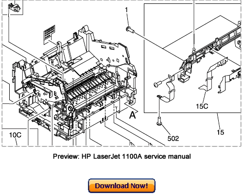 hp laserjet 1100a service repair manual download