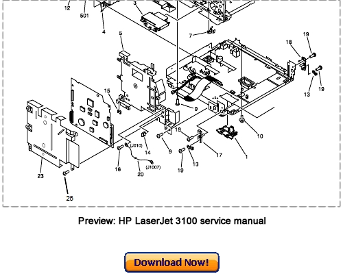Pay for HP LaserJet 3100 Service Repair Manual Download