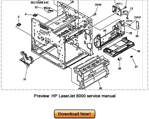 Pay for HP LaserJet 8000 with Mopier 240 Service Repair Manual Download
