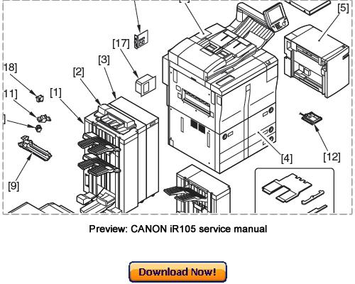 Canon Ir105 Service Repair Manual Download