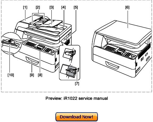 canon ir1022a ir1022f ir1022i ir1022if service repair manual down rh tradebit com