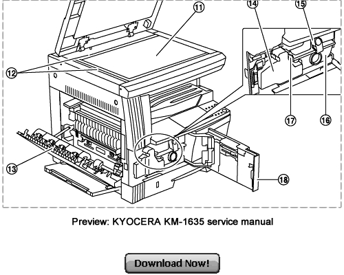 Pay for KYOCERA Service KM-2035 KM-1635 Repair Manual Download