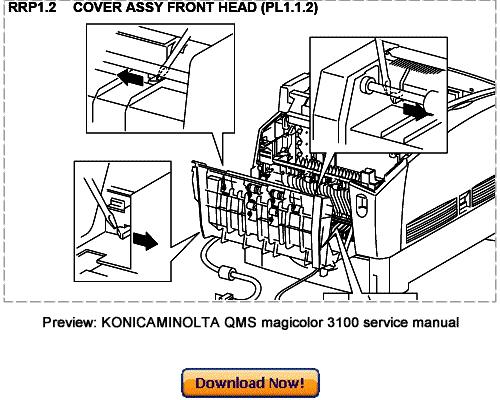 Pay for KONICA MINOLTA 3100 Service Repair Manual Download