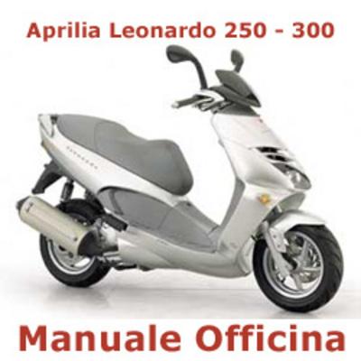 aprilia leonardo 250 300 manuale officina in italiano. Black Bedroom Furniture Sets. Home Design Ideas