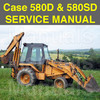 Thumbnail Case 580D 580SD Super D CK Tractor Loader Backhoe Forklift SERVICE Repair MANUAL - DOWNLOAD