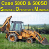 Thumbnail Case 580D 580SD Super D CK Tractor Loader Backhoe SERVICE & OPERATOR MANUAL -2- MANUALS - DOWNLOAD