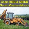Thumbnail Case 580D 580SD Super D CK Tractor Loader Backhoe SERVICE & OPERATOR MANUAL -2- MANUALS - DOWNLOAD